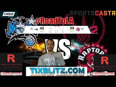 Orlando Magic vs Toronto Raptors LIVE Play by Play and Reactions! #NBA #NBAplayoffs