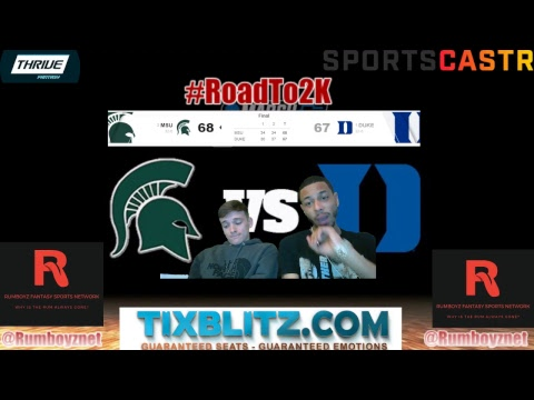 Michigan State Spartans vs Duke Blue Devils! #MarchMadness #FinalFour #SweetSixteen