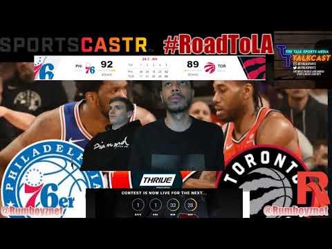 Philadelphia 76ers vs Toronto Raptors Game 2 LIVE reactions play by play #NBA #NBAplayoffs