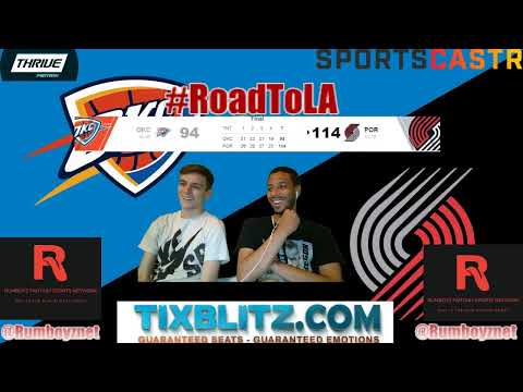 Oklahoma City Thunder vs Portland Trail Blazers LIVE Reactions and Play by Play! #NBA #NBAplayoffs