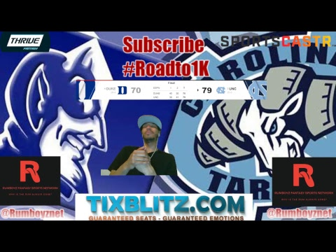 Duke vs UNC live reactions and play by play!