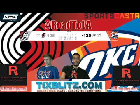 Portland Trail Blazers vs Oklahoma City Thunder! #NBA #NBAplayoffs
