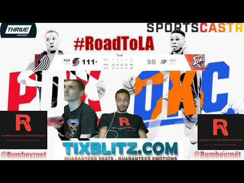Portland TrailBlazers vs Oklahoma City Thunder LIVE play by play and Reactions! #NBA #NBAplayoffs