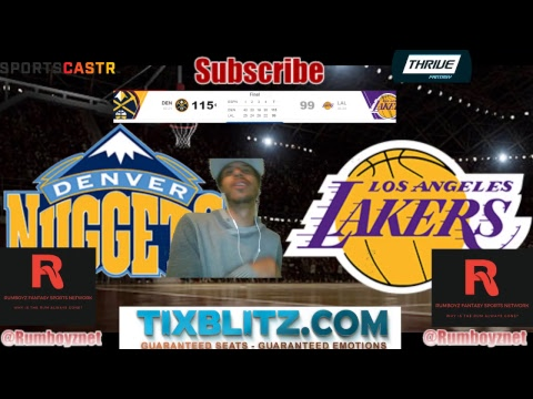 Denver Nuggets vs Los Angeles Lakers Live stream play by play and reactions!