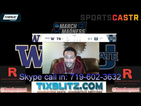 Duke vs NDST & Utah State vs Washington #MarchMadness #Braketology #FinalFour