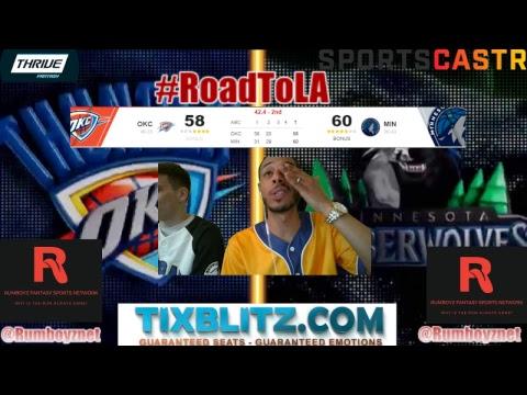 Oklahoma City Thunder vs Minnesota Timberwolves PxP and Reactions!
