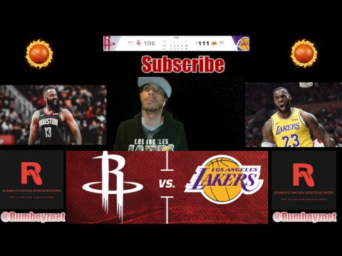 Houston Rockets vs. Los Angeles Lakers Reactions and play by play