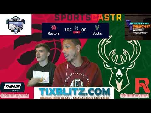 Toronto Raptors vs Milwaukee Bucks Game 5 LIVE Reactions and play by play! #NBA #NBAfinals