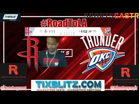 Houston Rockets vs Oklahoma City Thunder play by play and reactions! #NBA #Rockets #Thunder