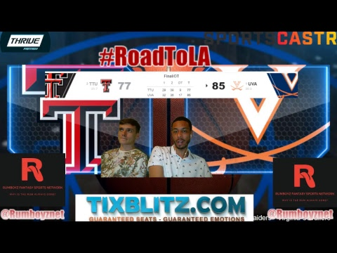 Texas Tech Red Raiders vs Virginia Cavaliers PxP and Reactions! #NCAA #NationalChampionship