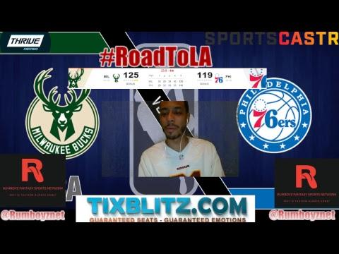 Milwaukee Bucks vs Philadelphia 76ers Play by Play and Reactions! #NBA #Playoffs