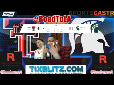 Texas Tech Red Rangers vs Michigan State Spartans PxP and Reactions! #MarchMadness #FinalFour