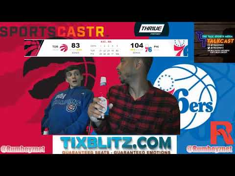 Toronto Raptors vs Philadelphia 76ers Game 6 LIVE reactions and play by play! #NBA #NBAplayoffs