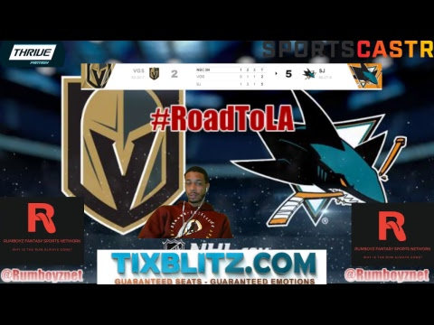 Las Vegas Knights vs San Jose Sharks play by play and reactions! #NHL #StanleyCupPlayoffs
