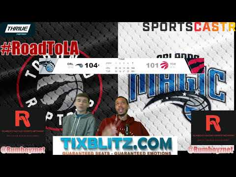 Toronto Raptors vs Orlando Magic Reactions and Play by Play! #NBA #NBAplayoffs