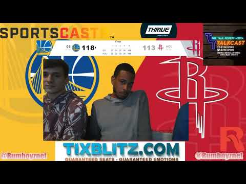 Golden State Warriors vs Houston Rockets Game 6 LIVE reactions and play by play! #NBA #NBAplayoffs
