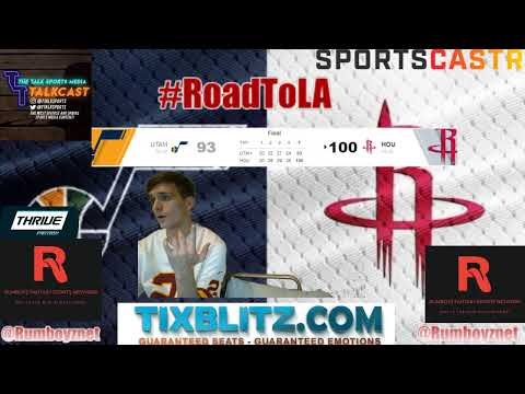 Utah Jazz vs Houston Rockets LIVE play by play and reactions! #NBA #NBAplayoffs