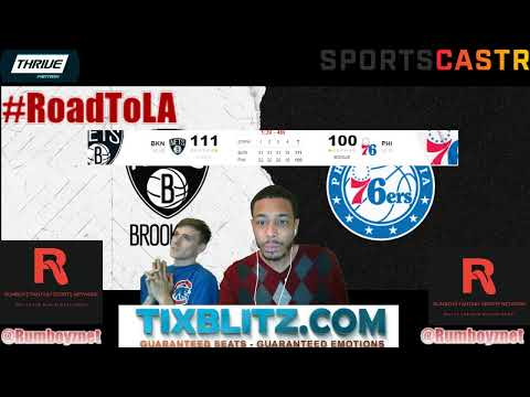 Brooklyn Nets vs Philadelphia 76ers Reactions and Play by Play! #NBA #NBAplayoffs