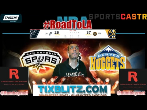 San Antonio Spurs vs Denver Nuggets Play by Play and Reactions! #NBA