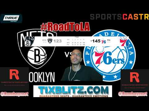 Brooklyn Nets vs Philadelphia 76ers LIVE Reactions and Play by Play! #NBA #NBAplayoffs