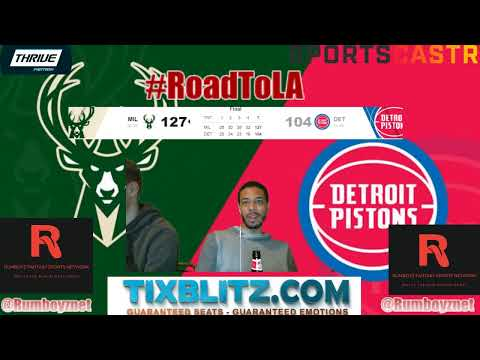 Milwaukee Bucks vs Detroit Pistons LIVE Play by Play and Reactions! #NBA #NBAplayoffs