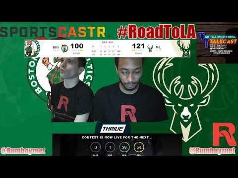 Boston Celtics vs Milwaukee Bucks Game 2 LIVE reactions and play by play! #NBA #NBAplayoffs