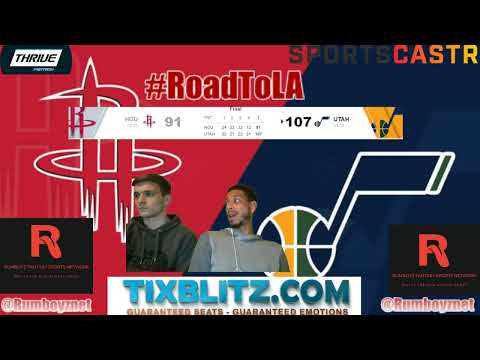 Utah Jazz versus Houston Rockets LIVE Play by Play and Reactions! #NBA #NBAplayoffs