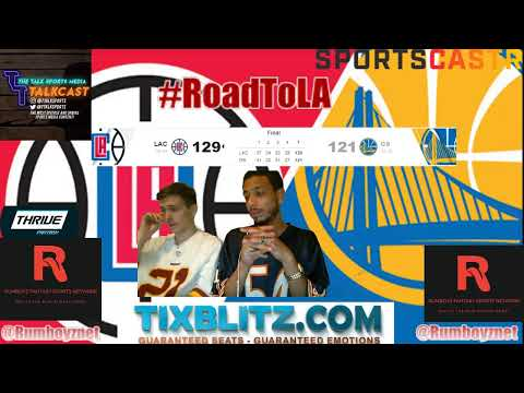 Golden State Warriors versus Los Angeles Clippers LIVE play by play and reactions! #NBA #NBAplayoffs
