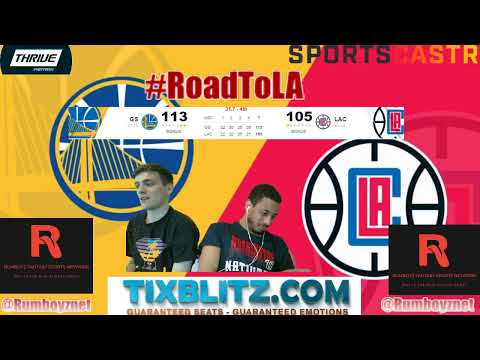 Golden State Warriors vs Los Angeles Clippers LIVE play by play and Reactions! #NBA #NBAplayoffs