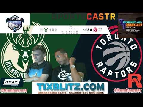 Milwaukee Bucks vs Toronto Raptors Game 4 Play by Play and Live Reations!