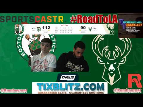 Boston Celtics vs Milwaukee Bucks LIVE PxP reactions! #NBA #NBAplayoffs