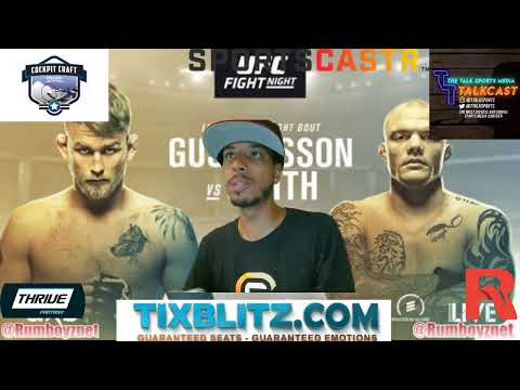 UFC Fight Night Stockholm Gustafsson vs Smith! #Rumboyz #UFC #MMA