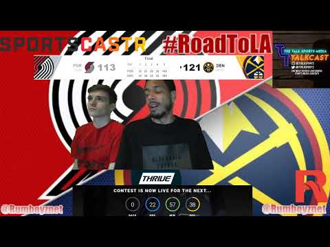 Portland Trail Blazers vs Denver Nuggets Game 2 LIVE reactions play by play #NBA #NBAplayoffs