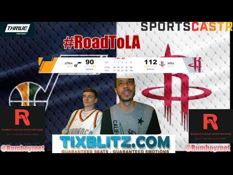 Utah Jazz vs Houston Rockets LIVE Reactions and Play by Play! #NBA #NBAplayoffs