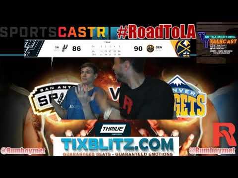 San Antonio vs Denver Nuggets LIVE PxP reactions! #NBA #NBAplayoffs