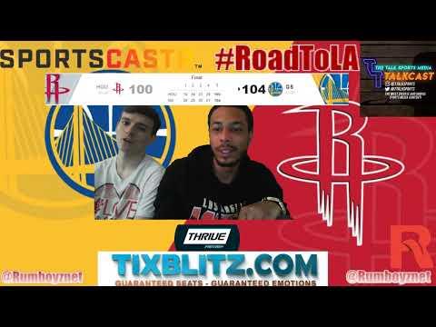 Golden State Warriors vs Houston Rockets LIVE PxP reactions! #NBA #NBAplayoffs