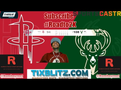 Houston Rockets vs Milwaukee Bucks! #NBA #NBAplayoffs