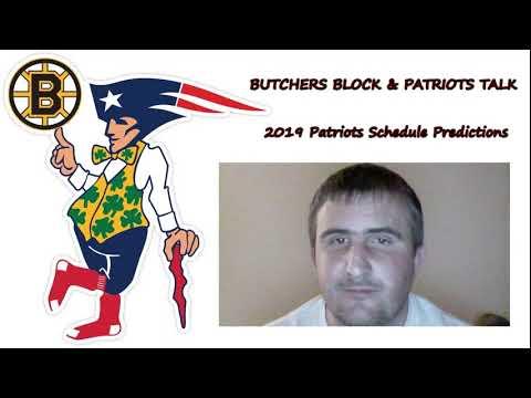 2019 Patriots Schedule Predictions