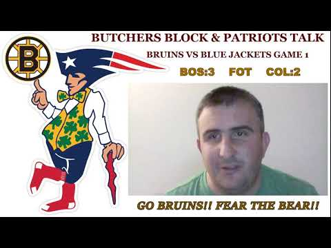 Bruins vs Blue Jackets Game 1 play by play
