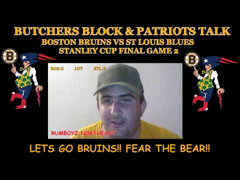 Boston Bruins vs St. Louis Blues Stanley Cup Final Game 2 live reaction and play by play
