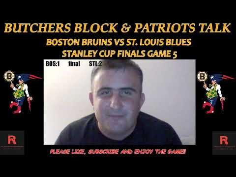 Boston Bruins vs St. Louis Stanley Cup Finals Game 5 live reaction and play by play
