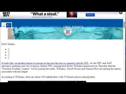 Ricky Williams Freedom Football League