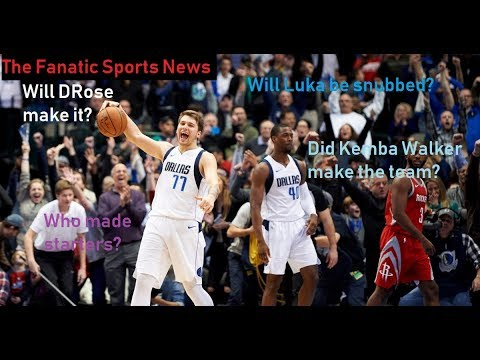 2019 All Star Game News- Luka Dončić SNUB???, Final All Star Predictions