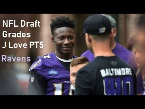 Baltimore Ravens Draft Grades by Jordan Love