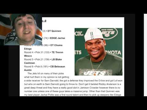 NY Jets Draft Grades by Jordan Love