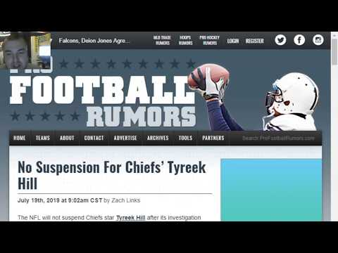 Tyreek Hill will not be suspended