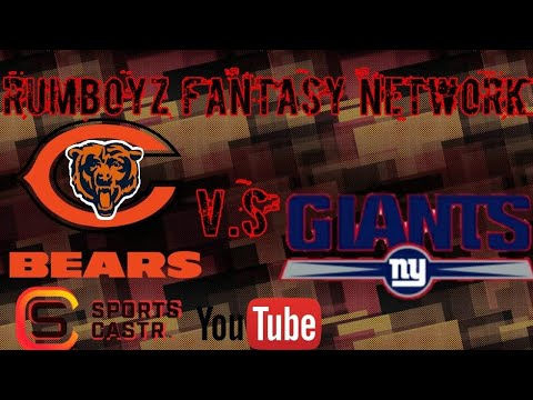 NFL Preseason Week 2 Chicago Bears vs New York Giants!