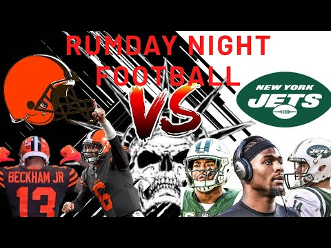 NFL Monday Night Football Cleveland Browns vs New York Jets! #NFL100 #MNF