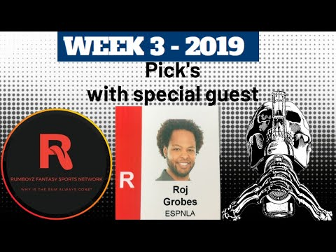 NFL Week 3 Picks with ESPNLA's Roj Grobes! #NFL #NFL100