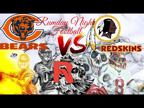 NFL Monday Night Football Chicago Bears vs Washington Redskins